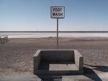 邦纳维尔盐沼脚洗涤 库存图片