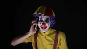 邪恶的可怕小丑谈的电话,惊吓您 影视素材