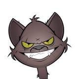 邪恶的咧嘴笑的动画片猫 免版税库存图片