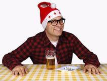 邪恶的圣诞老人 免版税图库摄影