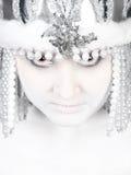邪恶的女孩冬天 免版税库存图片