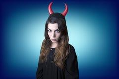 邪恶的妇女 免版税库存图片