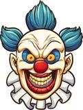 邪恶的小丑 免版税图库摄影