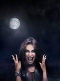 邪恶的摇滚明星妇女 图库摄影
