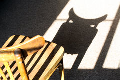邪恶的椅子 库存照片