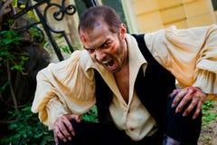 邪恶的男性吸血鬼 免版税库存照片
