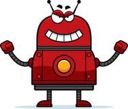 邪恶的红色机器人 免版税库存照片