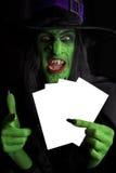 邪恶的绿色巫婆。 库存照片