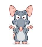 邪恶的鼠 免版税库存照片