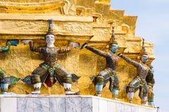 邪魔支持者,泰国雕塑 免版税库存照片