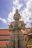 邪魔监护人名字Todsakan在曼谷玉佛寺盛大宫殿曼谷 库存图片
