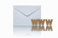 邮件万维网 库存图片