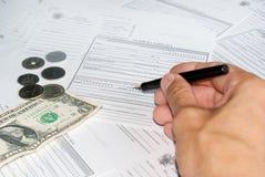 邮件汇款单 免版税库存照片