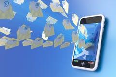 邮件移动电话 库存例证