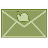 邮件蜗牛 图库摄影