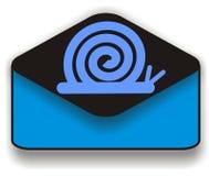 邮件蜗牛 免版税图库摄影