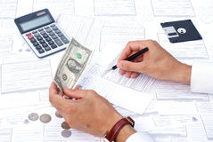 邮件货币 免版税图库摄影
