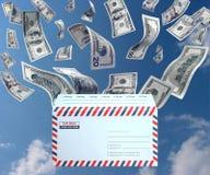 邮件货币 库存图片