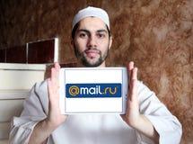 邮件 Ru互联网公司商标 免版税库存照片