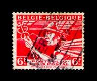 邮包:水星- ` Belgie -贝尔吉克`, serie,大约1945年 库存图片