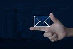 邮寄象,与我们联系概念,用装备的这个图象的元素 库存图片