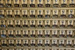 邮局号码锁配件箱 图库摄影