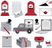 邮局设计传染媒介  免版税库存图片