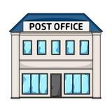 邮局 在动画片的邮件和邮差唯一象称呼传染媒介标志股票例证网 免版税库存照片