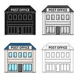 邮局 在动画片的邮件和邮差唯一象称呼传染媒介标志股票例证网 库存图片