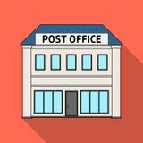邮局 在平的样式的邮件和邮差唯一象导航标志储蓄例证网 库存照片