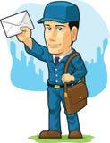 邮差或邮递员动画片  免版税库存照片