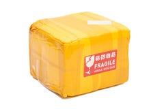 邮政包裹箱子或运送箱 库存照片