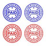 邮票和邮票,付款,卖,被预留 r 向量例证