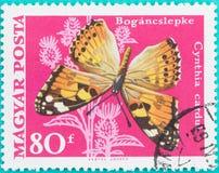 邮票在匈牙利马扎尔人Posta打印了 免版税库存图片