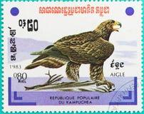 邮票在R打印了 P 柬埔寨 免版税库存照片