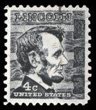邮票显示亚伯拉罕・林肯图象画象  库存图片