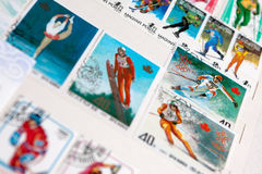 邮票的收集 免版税库存图片