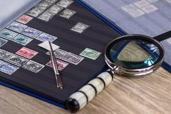 邮票的收集 库存照片