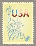 邮票自由女神象 库存照片