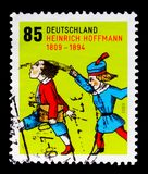 邮票致力了于诞生二百周年海因里奇Hoffmann, serie,大约2009年 图库摄影