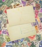 邮票邮件。 免版税库存照片