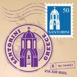 邮票集合圣托里尼 库存图片