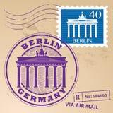邮票集合柏林 向量例证