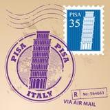 邮票集合比萨 免版税库存图片