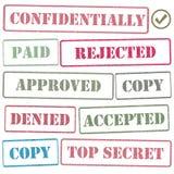 邮票集合,传染媒介例证 皇族释放例证