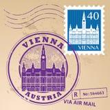 邮票集合维也纳 皇族释放例证