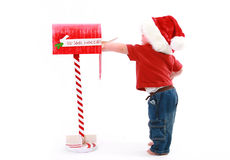 邮箱圣诞老人 免版税库存图片