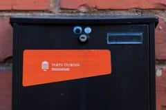 邮箱在塔尔图大学的博物馆 库存照片