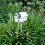 邮箱在庭院里在Torquay 库存照片