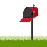 邮箱开放红色 免版税库存照片